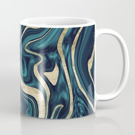 Teal Navy Blue Gold Marble #1 #decor #art #society6 Coffee Mug