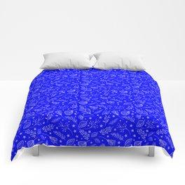 Blue Leaf Pattern Comforters