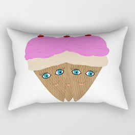 "Ice Cream ""Happy "" Rectangular Pillow"