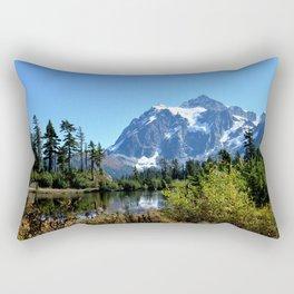 Mount Shuksan between the Trees Rectangular Pillow