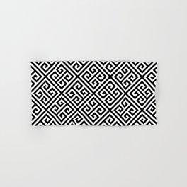 black and white pattern , Greek Key pattern -  Greek fret design Hand & Bath Towel