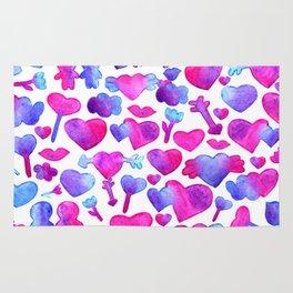 Watercolor romantic design Rug