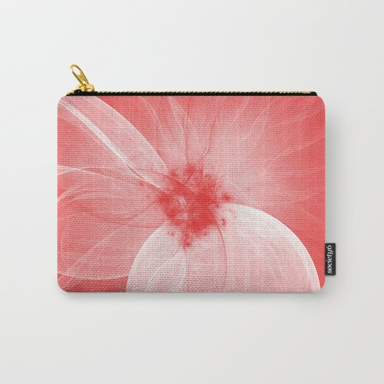 Red Fairy Blossom Fractal Carry-All Pouch