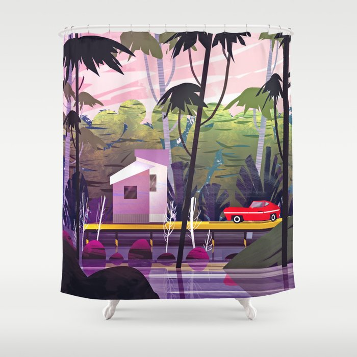 Mustang Shower Curtain By Ulystrator