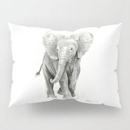 Baby Elephant Watercolor Pillow Sham