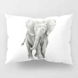 Baby Elephant Watercolor Pillow Sham