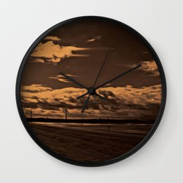 Another Place (Digital Art) Wall Clock