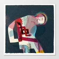 pain Canvas Prints featuring Pain by Keith Negley
