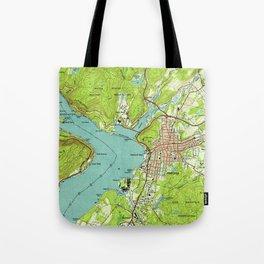 Vintage Map of Peekskill New York (1947) Tote Bag