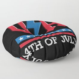 Independence day USA rock n roll thunder lightning style Floor Pillow