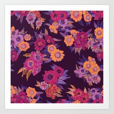 Floral in purple tones Art Print