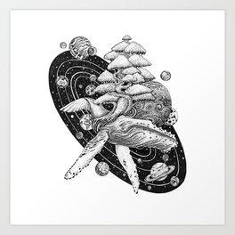Space Whale Art Print