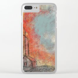 Road to Sunset Clear iPhone Case