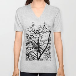 abstract tree Unisex V-Neck