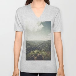 Edge of World Unisex V-Neck