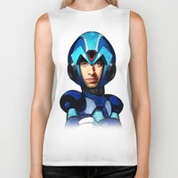 megaman Biker Tanks featuring Megaman wolowitz by seb mcnulty