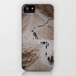 The Hike Up The Masada, Israel at Sunrise iPhone Case