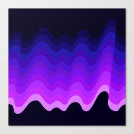 Ultraviolet Retro Ripple Canvas Print