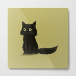 Sitting Cat Metal Print