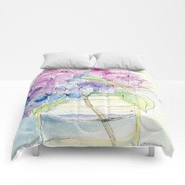 Hydrangea, Still Life Comforters