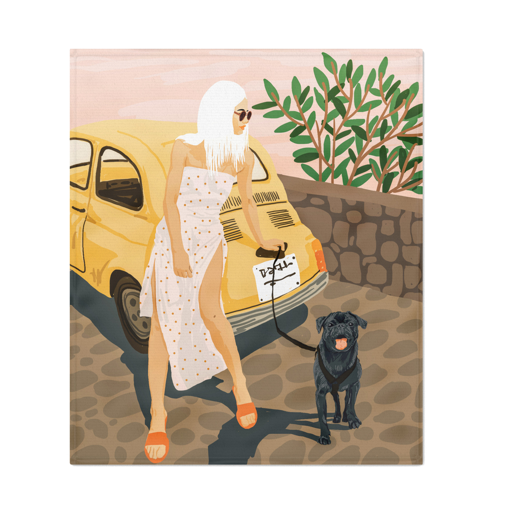 Tour_Illustration_Throw_Blanket_by_83oranges