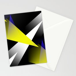 Space Age 3-D Shards Abstract  Stationery Cards