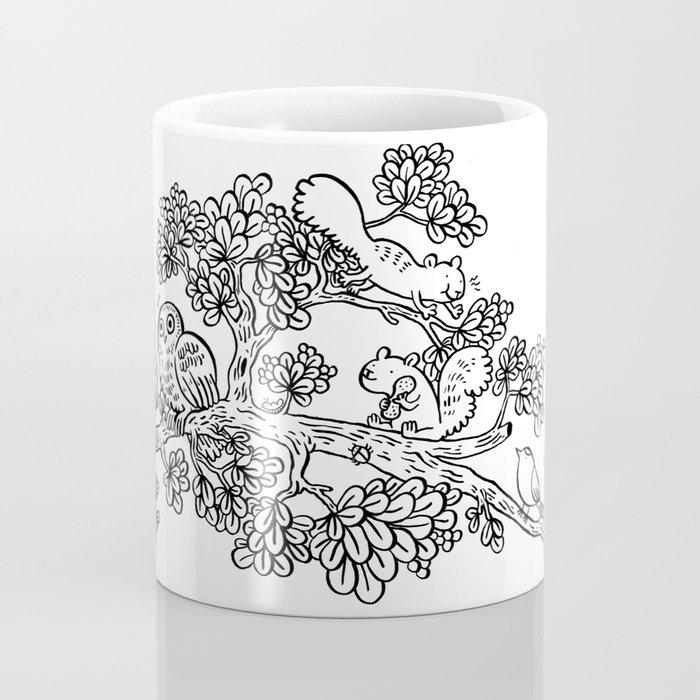 Forest Friends in Foliage Coffee Mug