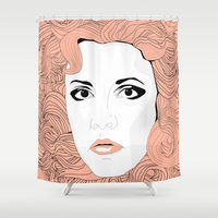 stevie nicks Shower Curtains featuring Stevie by IN SEARCH OF GOOD THINGS
