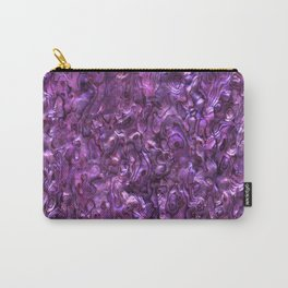 Abalone Shell | Paua Shell | Sea Shells | Patterns in Nature | Magenta Tint | Carry-All Pouch