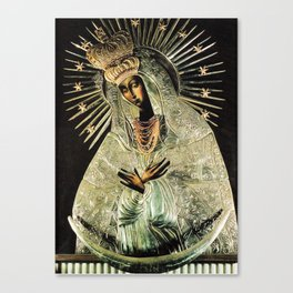 Our Lady Gate of Dawn Virgin Mary of Sharp Gate Madonna without Child Christmas Gift Religion Art Canvas Print