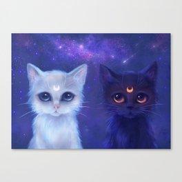 Guardian Cats Canvas Print