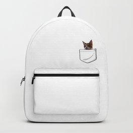 A cat in da pocket! Backpack