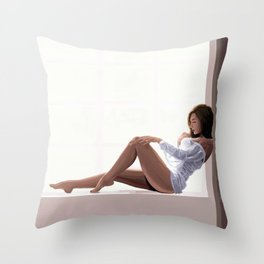 Impressionist Pin up Throw Pillow