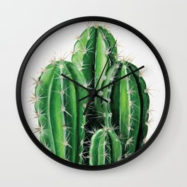 Cactus Acyrlic Painting Wall Clock
