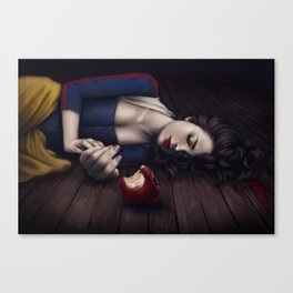 Poisoned apple Canvas Print