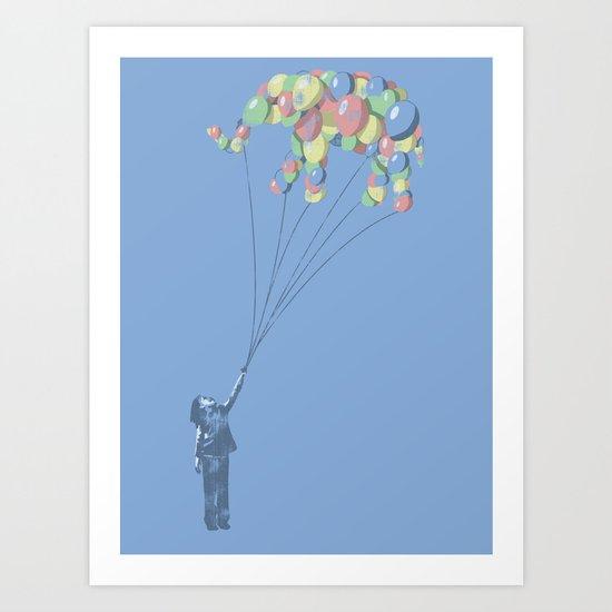 Elephants Can Fly Art Print