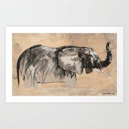 Elephant3 Art Print