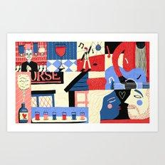 Drinking Art Print