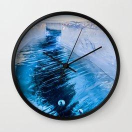 The crack of Baikal ice Wall Clock
