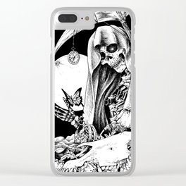 GOD OF DEATH Clear iPhone Case