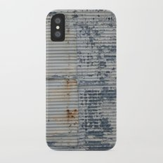 Warehouse District -- Rustic Industrial Farm Chic Abstract iPhone X Slim Case