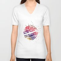 death star V-neck T-shirts featuring Star . Wars Death Star by Carma Zoe
