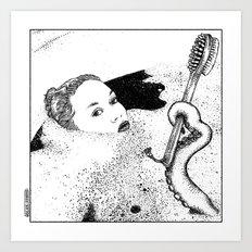 asc 618 - Le dieu domestique (Could you hand me the brush please?) Art Print