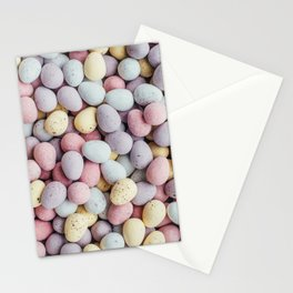 Chocolate Egg Pattern Stationery Cards
