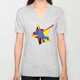 El superhéroe Unisex V-Neck