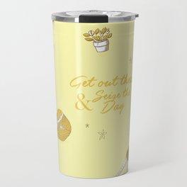 Yellow armadillo pattern Travel Mug