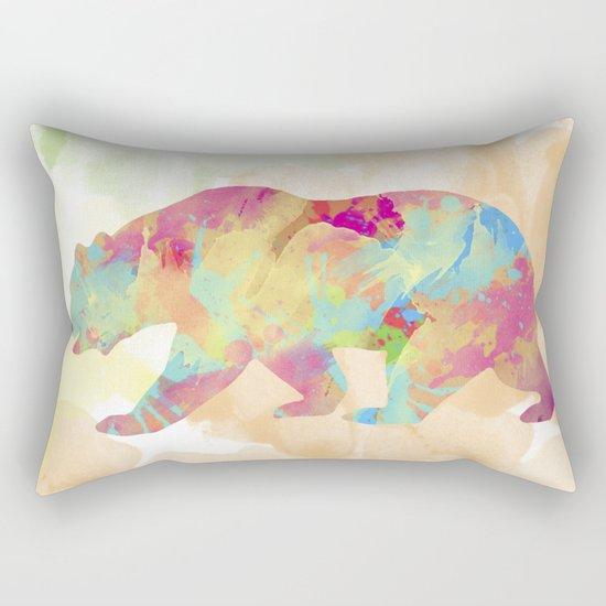 Abstract Bear Rectangular Pillow