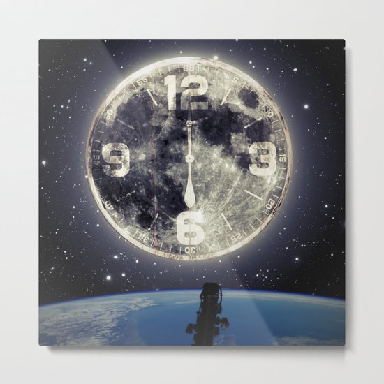 Midnight at Space Metal Print