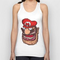 mario Tank Tops featuring Mario by Lime