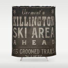 Killington Mountain Ski Area Sign Vermont Shower Curtain